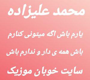 دانلود آهنگ محمد علیزاده یارم باش اگه میتونی کنارم باش همه ی دار و ندارم باش